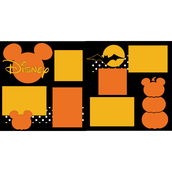 Disney Halloween 2 -basic page kit
