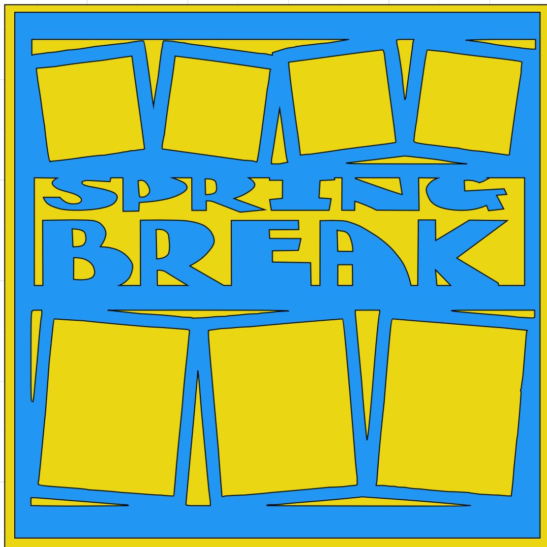 Spring Break Overlay -  page kit