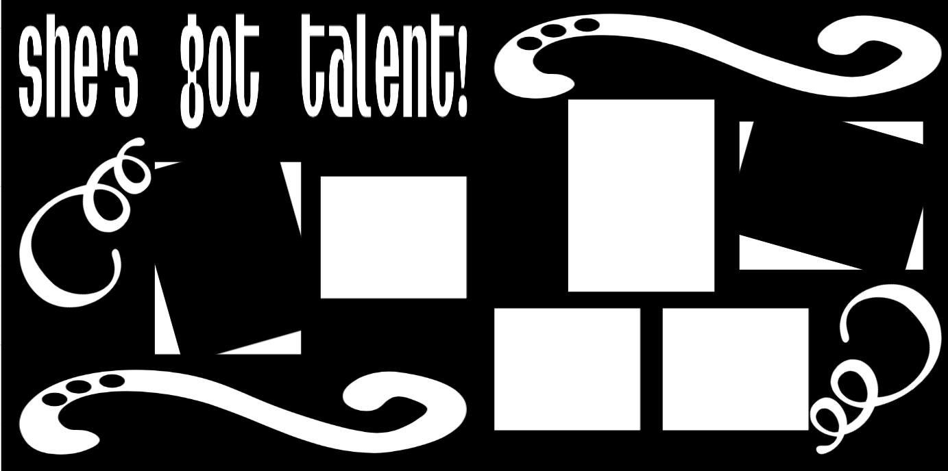She's got talent  -  page kit