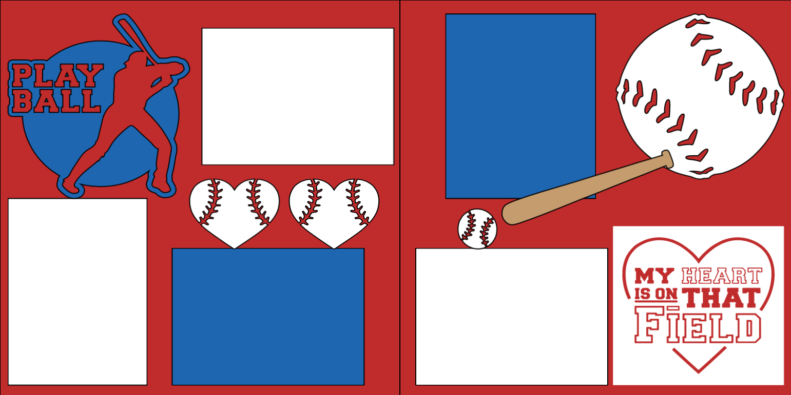 Play ball - my heart is on that field -  page kit