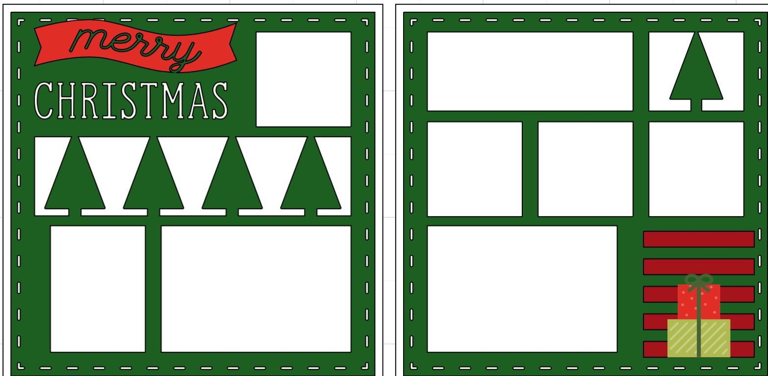 Merry Christmas set-  page kit
