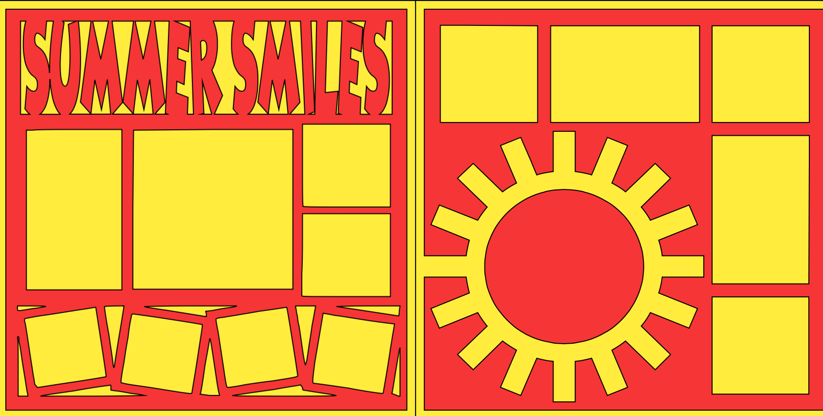 Summer Smiles -  page kit