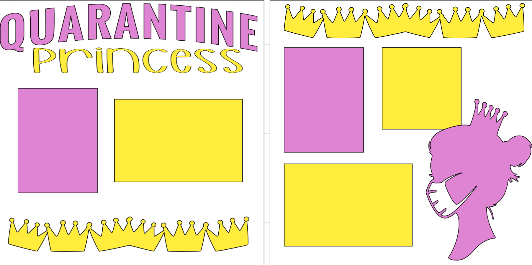 Quarantine Princess -  page kit