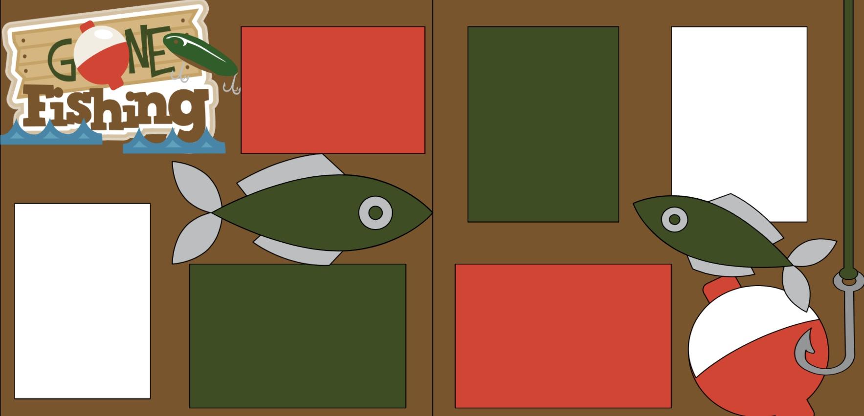 Gone Fishing-  page kit