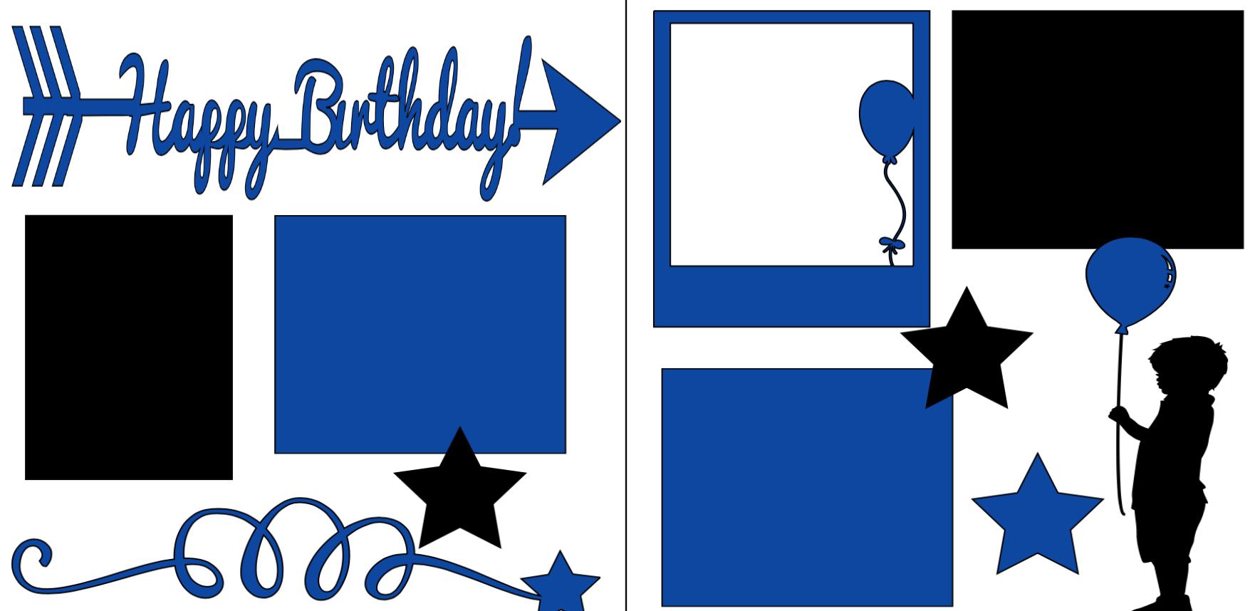 Happy Birthday Boy -  page kit