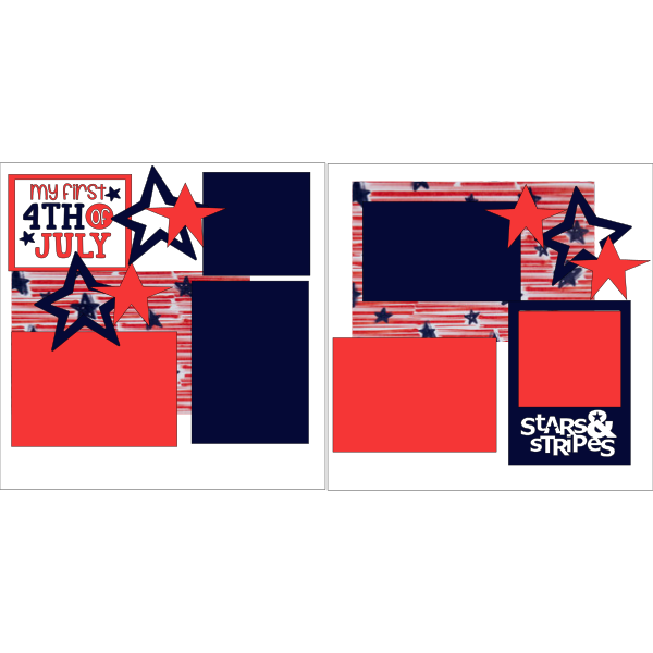 MY  1ST 4TH OF JULY *** - PAGE KIT