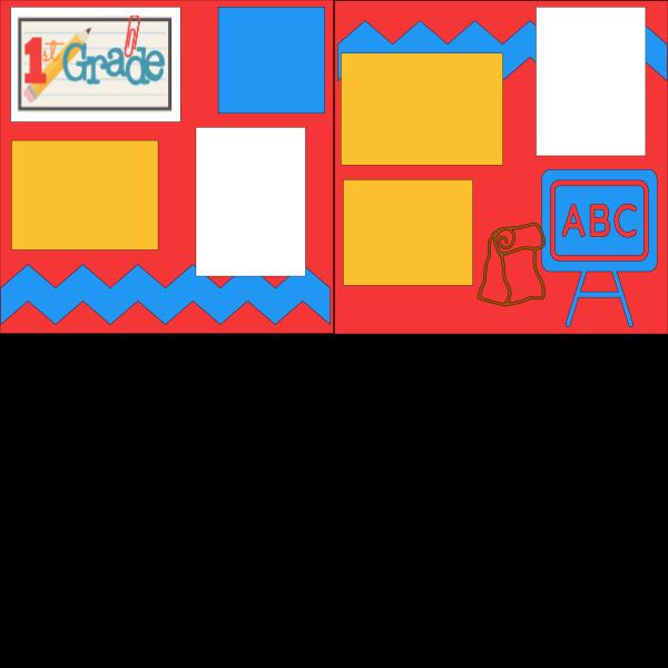 1ST GRADE (abc) SCHOOL   --   page kit