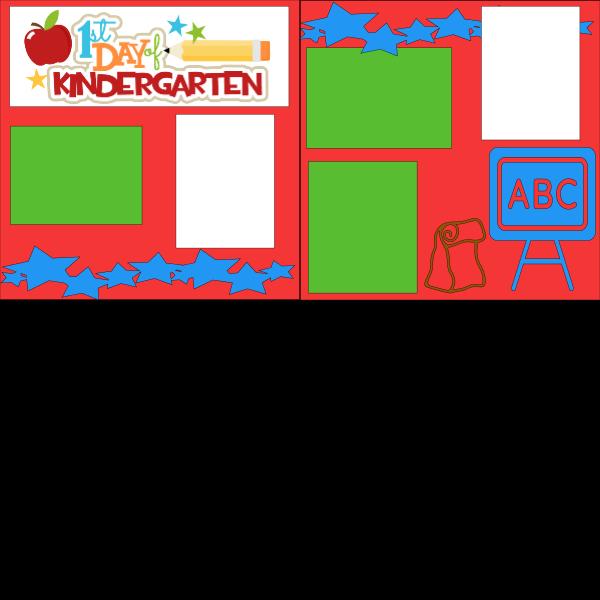 1ST DAY OF KINDERGARTEN (SCHOOL)   --   page kit