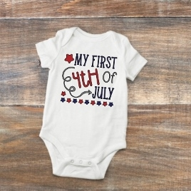 MY FIRST 4TH OF JULY T-SHIRT /ONESIE