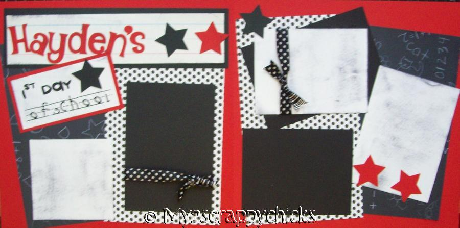 1ST Day of SCHOOL Personalized  - page kit