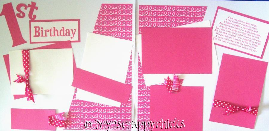 First Birthday Girl   page kit