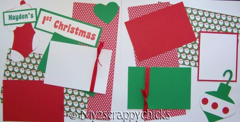 Baby's 1st Christmas PERSONALIZED  Page Kit