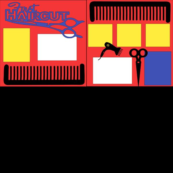 FIRST HAIRCUT BOY ---  -basic page kit