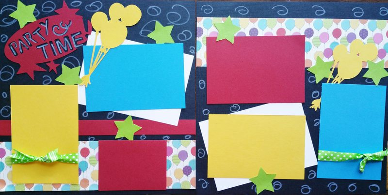 PARTY TIME BIRTHDAY   page kit