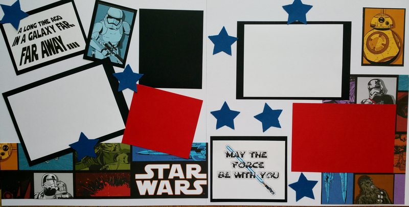 STAR WARS A LONG TIME AGO IN A GALAXY FAR WAY   page kit