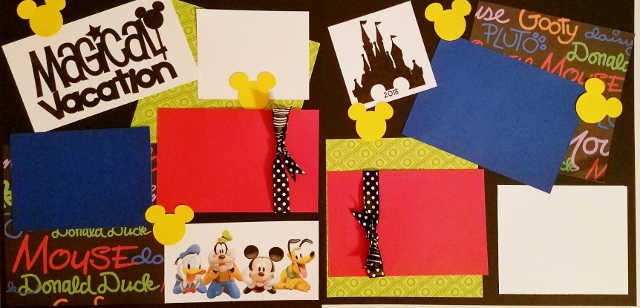 MAGICAL VACATION DISNEY  page kit