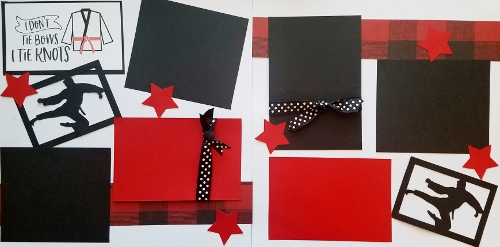 KARATE , MARTIAL ARTS I DON'T TIE BOWS I TIE KNOTS PAGE KIT