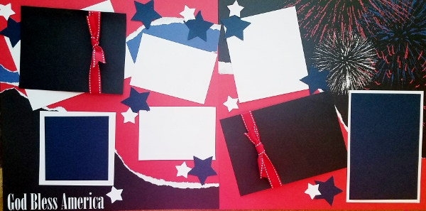 GOD BLESS AMERICA 4TH OF JULY  -basic page kit