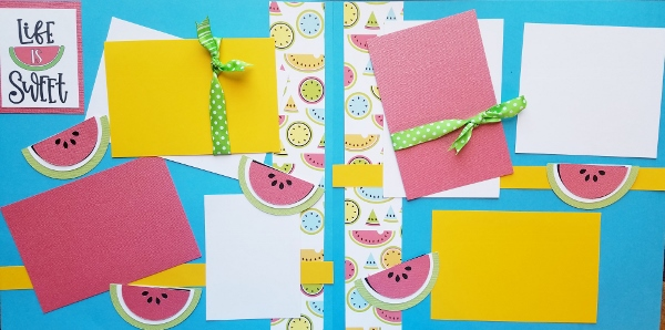 LIFE IS SWEET WATERMELONS -basic page kit