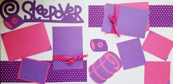SLEEPOVER PREMADE PAGES