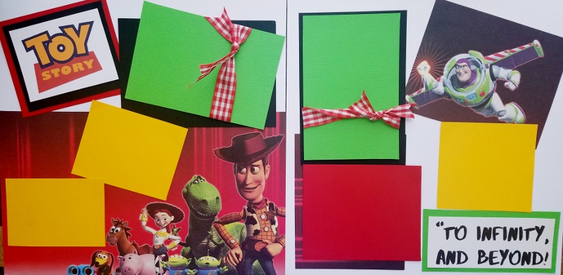 NEW TOY STORY BUZZ AND WOODY TO INFINITY  -basic page kit