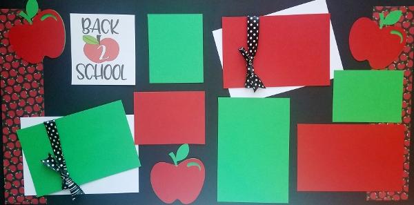 BACK 2 SCHOOL APPLE  -basic page kit