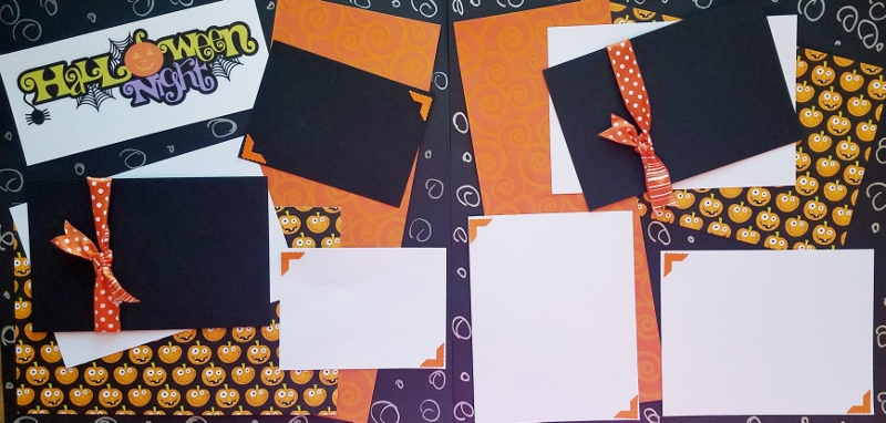 HALLOWEEN NIGHT ASSEMBLED PREMADE PAGES