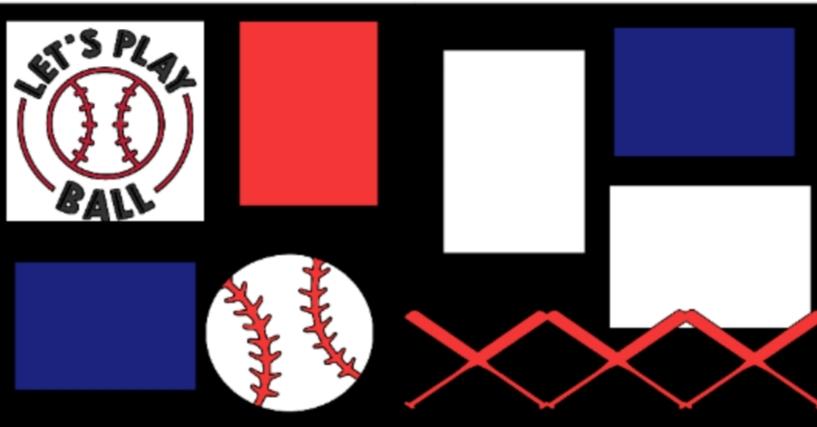 Let's play ball-baseball -basic page kit