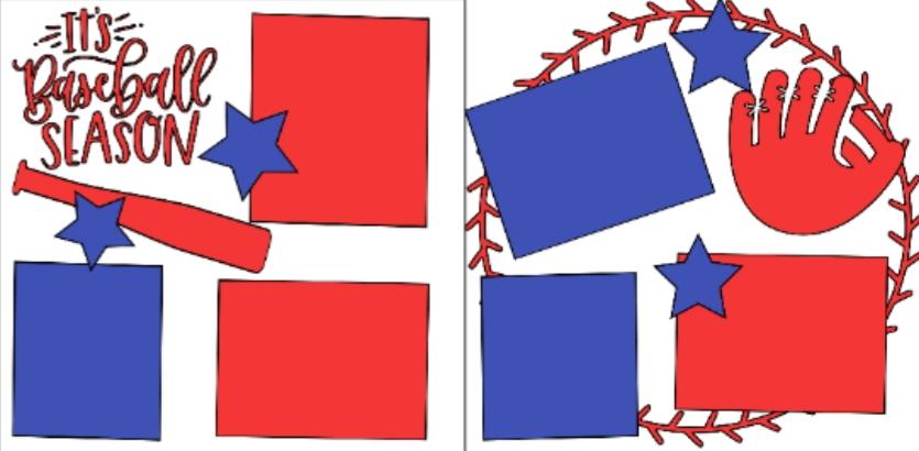 Baseball season  -basic page kit
