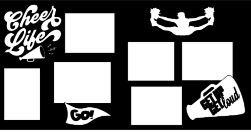 Cheer Life (cheerleading)  -basic page kit
