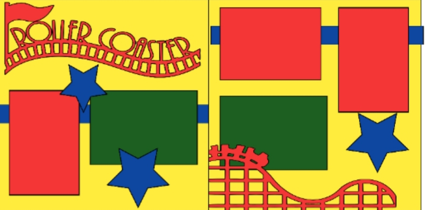 Rollercoaster-basic page kit
