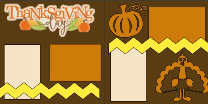 Thanksgiving Day -basic page kit
