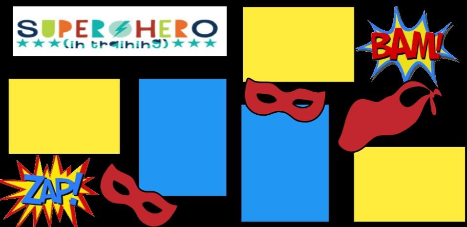Superhero in training  -basic page kit