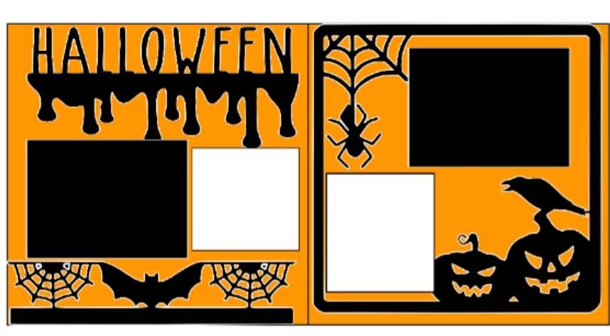 Halloween Overlay Set  -basic page kit