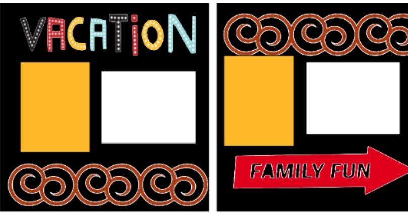 Vacation Family Fun  -basic page kit