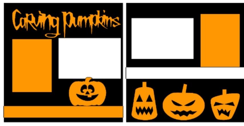 Carving pumpkins!  -basic page kit