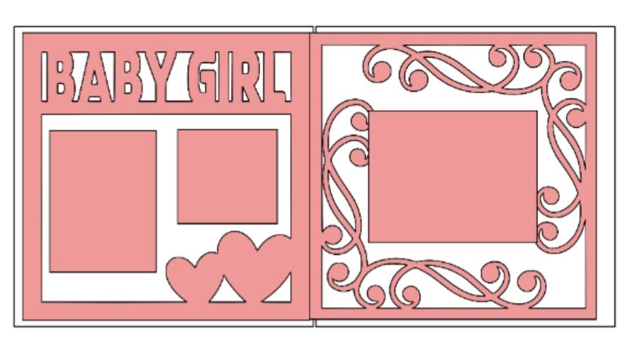 Baby Girl Overlay Set-basic page kit