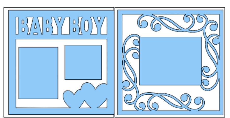 Baby Boy Overlay Set  -basic page kit