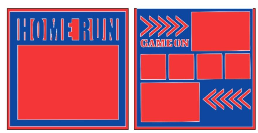 Baseball Homerun overlay set -basic page kit
