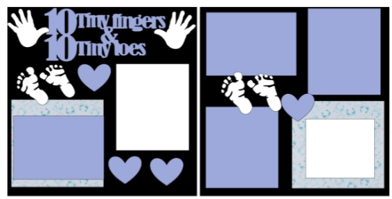 10 tiny fingers boy -basic page kit
