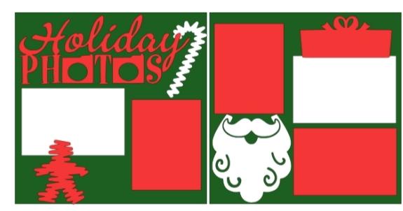 Holiday Photos Christmas  -basic page kit