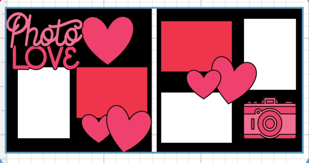 Photo love page kit