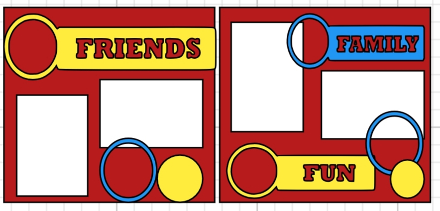Friends family and fun  page kit