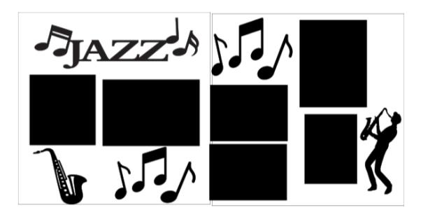 Jazz Music page kit