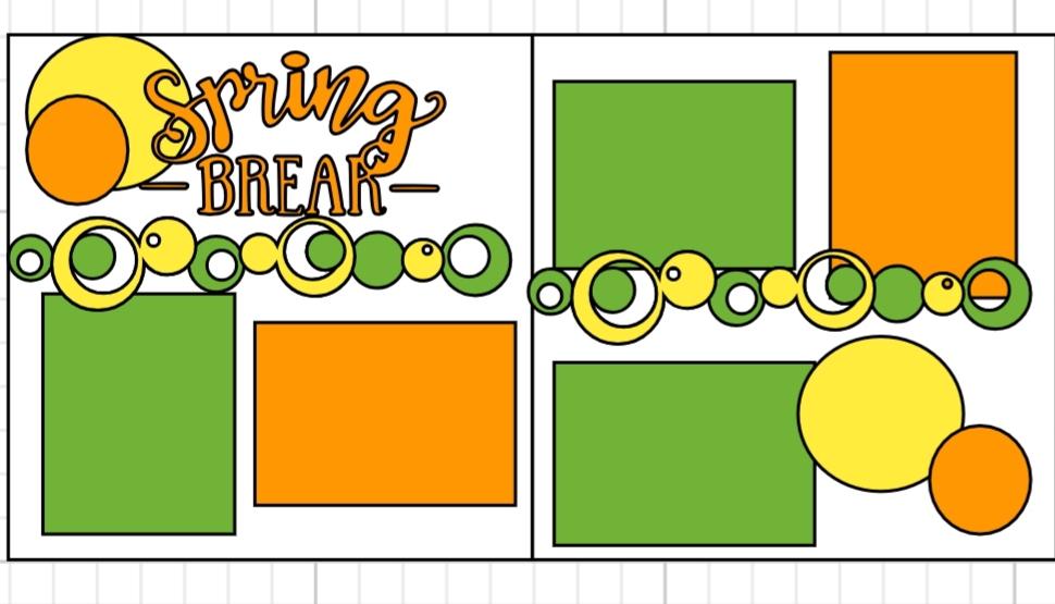 Spring BrEAk  page kit