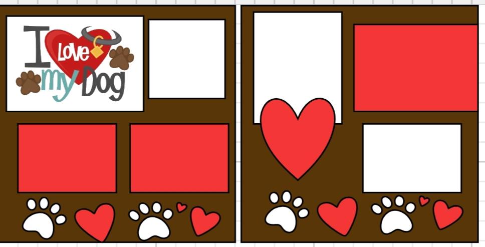 I love my dog ****  page kit