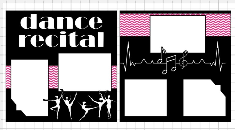 Dance Recital 3 page kit