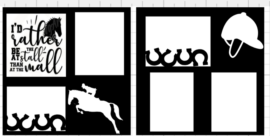 Horses Equestrian page kit