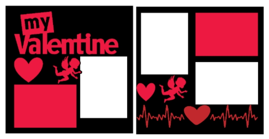 My Valentine--  page kit