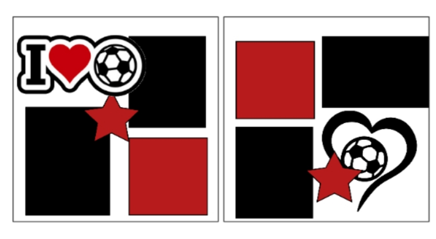Love Soccer--  page kit